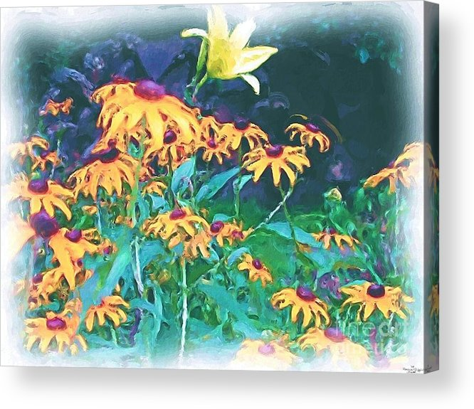 Mixed Media Acrylic Print featuring the painting A Lily In The Field by Patricia Griffin Brett