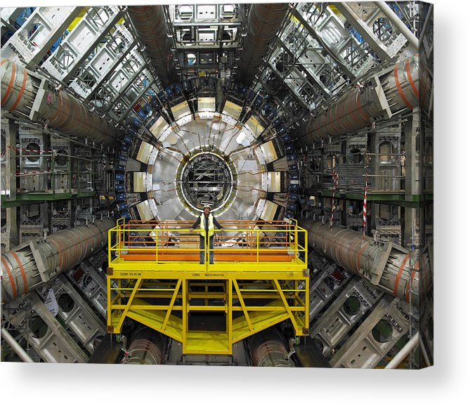 Atlas Acrylic Print featuring the photograph Atlas Detector, Cern by David Parker