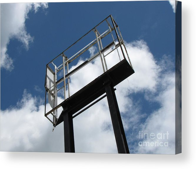 Schuminweb Acrylic Print featuring the photograph Empty Sign Frame by Ben Schumin