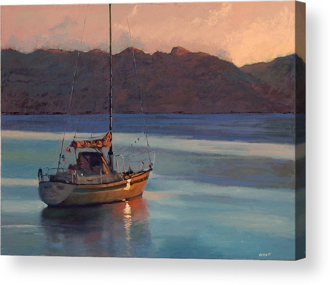 Sail Acrylic Print featuring the painting End Of Day by Robert Bissett