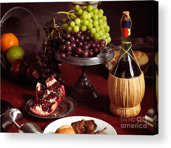 Feast Acrylic Print featuring the photograph Festive Dinner Still Life by Oleksiy Maksymenko