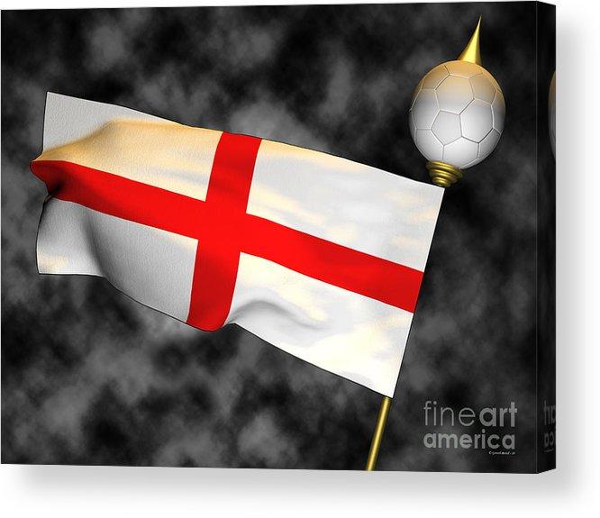 Fifa Acrylic Print featuring the photograph Football World Cup Cheer Series - England by Ganesh Barad