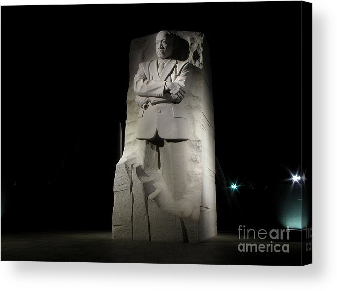 Schuminweb Acrylic Print featuring the photograph Martin Luther King, Jr. Memorial by Ben Schumin