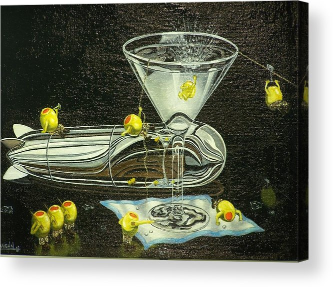 Acrylic Print featuring the painting Martini Military by Charles Vaughn