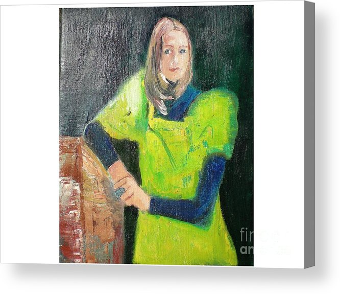 Portrait Acrylic Print featuring the painting Mary by Hal Newhouser