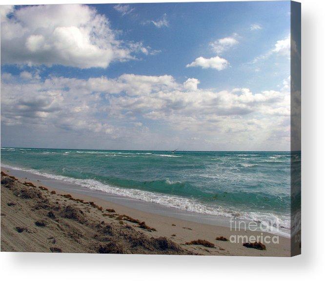 Miami Beach Acrylic Print featuring the photograph Miami Beach by Amanda Barcon