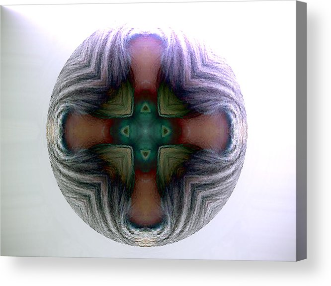 Sphere Acrylic Print featuring the digital art Spheres by Raynard Cantwell