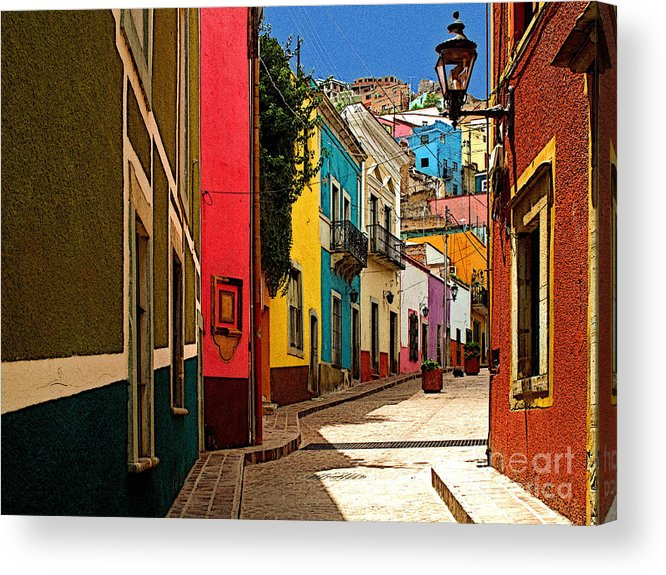 Darian Day Acrylic Print featuring the photograph Street Of Color Guanajuato 2 by Mexicolors Art Photography