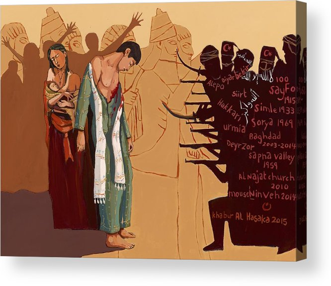 #assyrian Genocide Acrylic Print featuring the painting 100 Years Of Genocide by Paul Batou