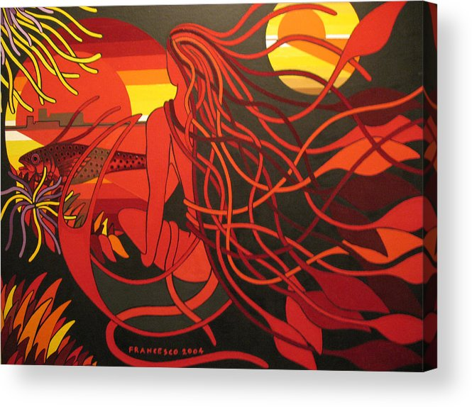 Dreams Acrylic Print featuring the painting My World by Francesco Venier