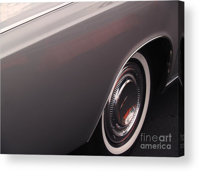 Lincoln Acrylic Print featuring the photograph 1968 Vintage Lincoln Sedan Fender by Anna Lisa Yoder