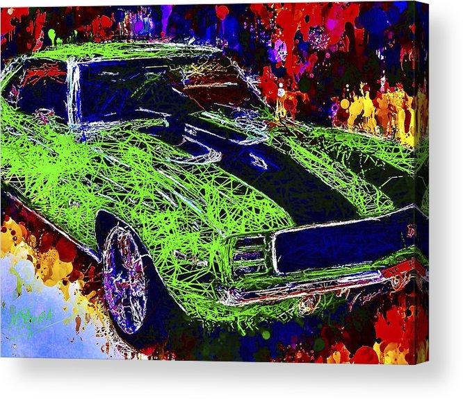 Camaro Acrylic Print featuring the mixed media 1969 Camaro Z28 by Al Matra