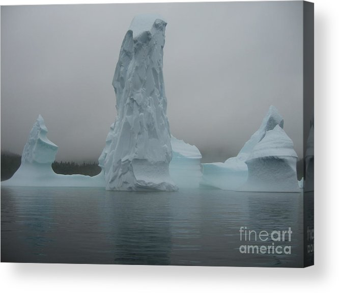 Icebergs Newfoundland Acrylic Print featuring the photograph Icebergs by Seon-Jeong Kim