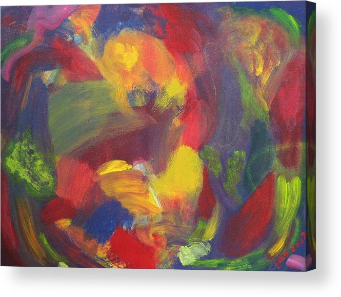 Abstract Acrylic Print featuring the painting On The Verge by Patricia Ortman