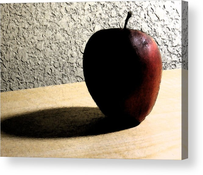 Apple Acrylic Print featuring the digital art Red Apple by Eric Forster