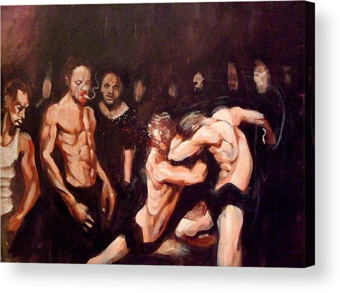 Fight Acrylic Print featuring the painting Untitled by Chris Slaymaker