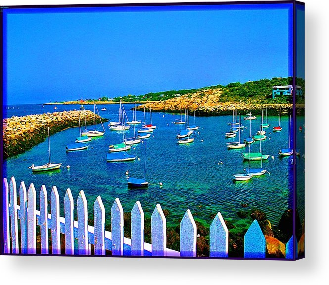 Seascape Acrylic Print featuring the photograph 2381 Rock Harbor by Ed Immar