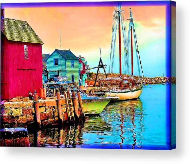 Acrylic Print featuring the painting 2449  Rockport by Ed Immar
