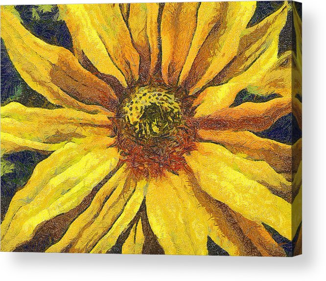 Odon Acrylic Print featuring the painting The Flower by Odon Czintos