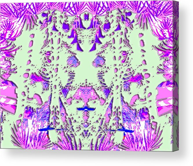 3djungle Abstract New Unusual Acrylic Print featuring the digital art 3djungle by Bruce Fisher