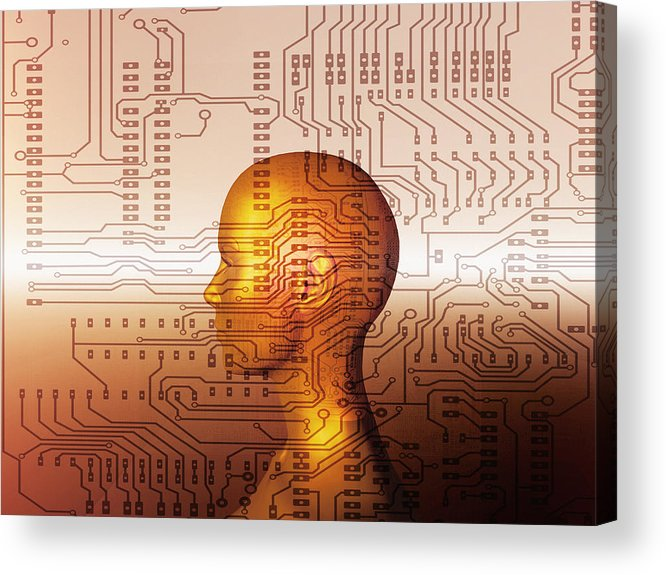 Human Acrylic Print featuring the photograph Artificial Intelligence by Mehau Kulyk