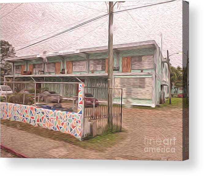 Belize Acrylic Print featuring the digital art Belize Ywca Building by Jason Freedman