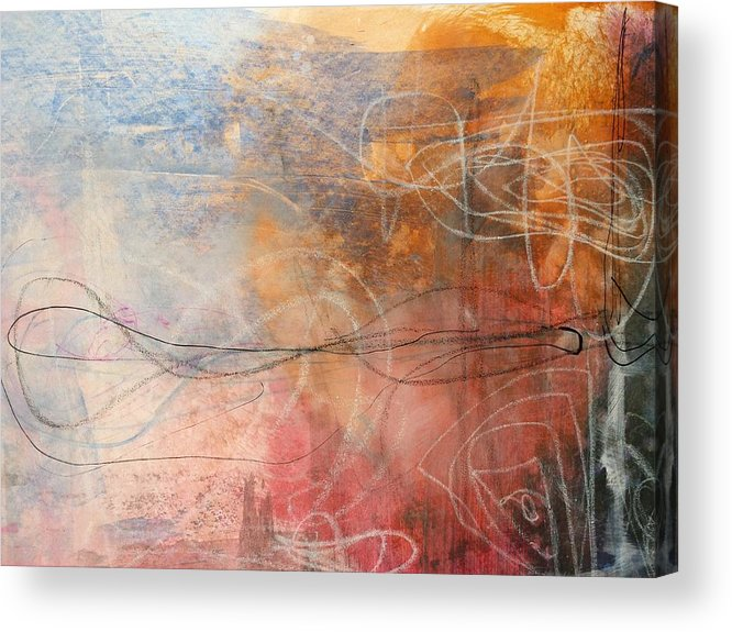 Acrylic Print featuring the painting Abstrait by Abdellah Boudra