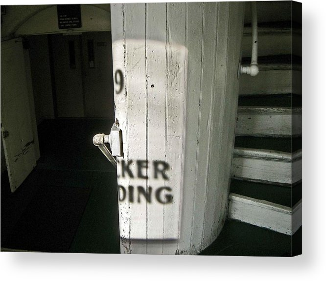 99 Entrance Acrylic Print featuring the photograph 99 The Picker Building by Nancy Ferrier