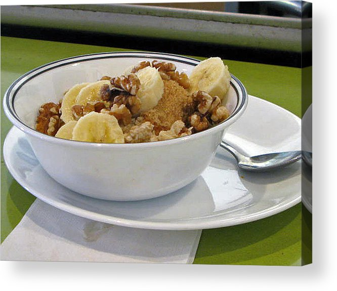 Still Life Acrylic Print featuring the photograph A Bowl Of Oats by Donna Thomas