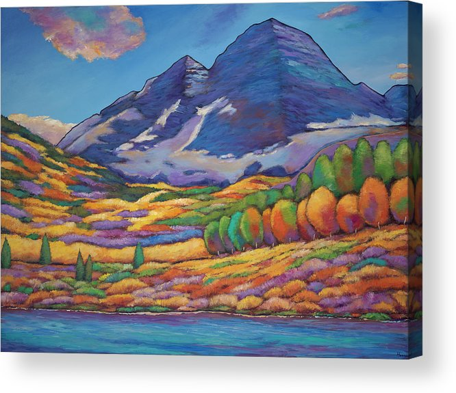 Aspen Tree Landscape Acrylic Print featuring the painting A Day In The Aspens by Johnathan Harris