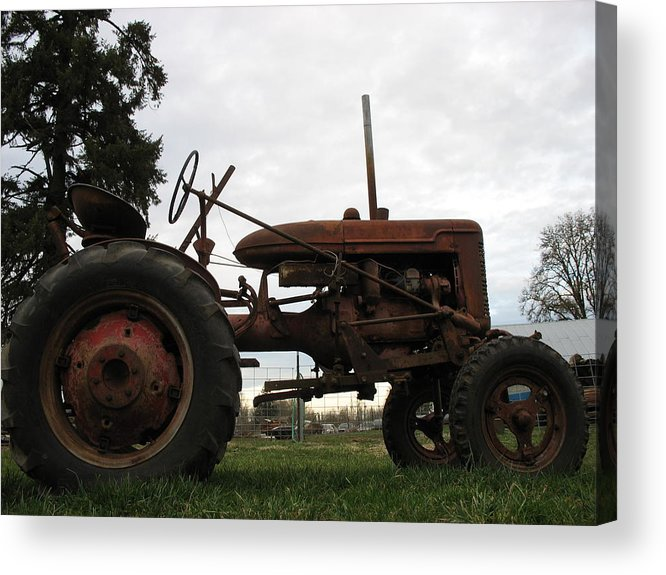 Tractor Acrylic Print featuring the photograph A Farmall by Juli House