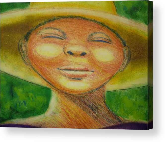 Drawing Acrylic Print featuring the drawing A Hot Summer Day by Jan Gilmore