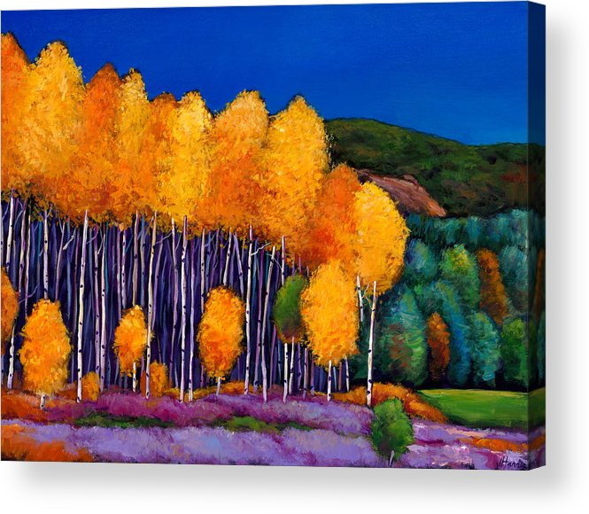 Aspen Acrylic Print featuring the painting A Moment In Time by Johnathan Harris