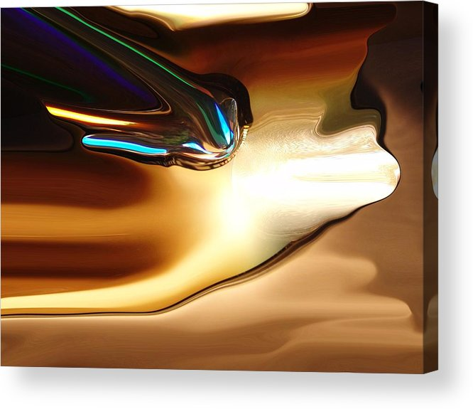 Abstract Acrylic Print featuring the digital art A Souls Journey by Florene Welebny