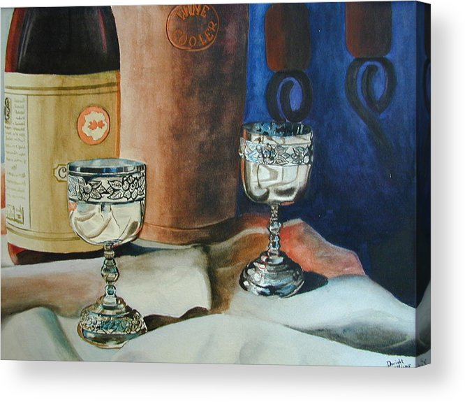Still Life Acrylic Print featuring the painting A Toast by Dwight Williams
