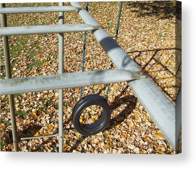 Landscame Acrylic Print featuring the photograph Abandon Playground by Samantha Gilbert