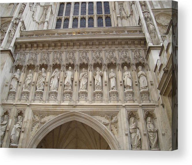 Westminster Abbey Acrylic Print featuring the photograph Abbey Facade by Kimberly Hill
