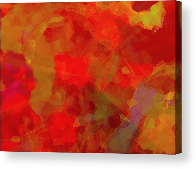 Abstract Acrylic Print featuring the mixed media Abstract 2 by Rene Avalos