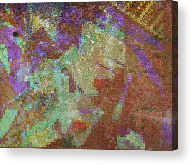 Abstract Acrylic Print featuring the mixed media Abstract 3 by Rene Avalos