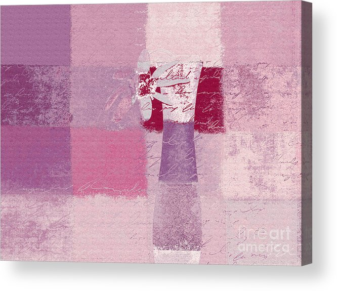 Abstract Acrylic Print featuring the digital art Abstract Floral - 11v3t09 by Variance Collections
