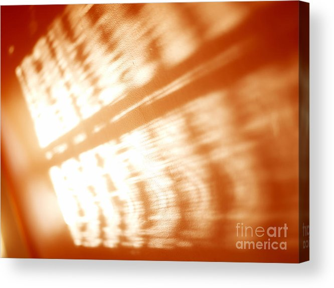 Abstract Acrylic Print featuring the photograph Abstract Light Rays by Tony Cordoza