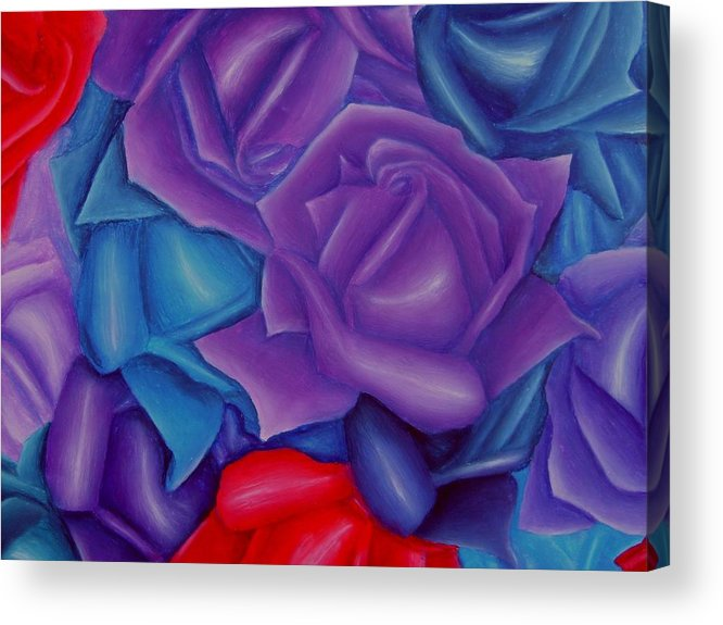 Flower Acrylic Print featuring the painting Abundance by Brandon Sharp