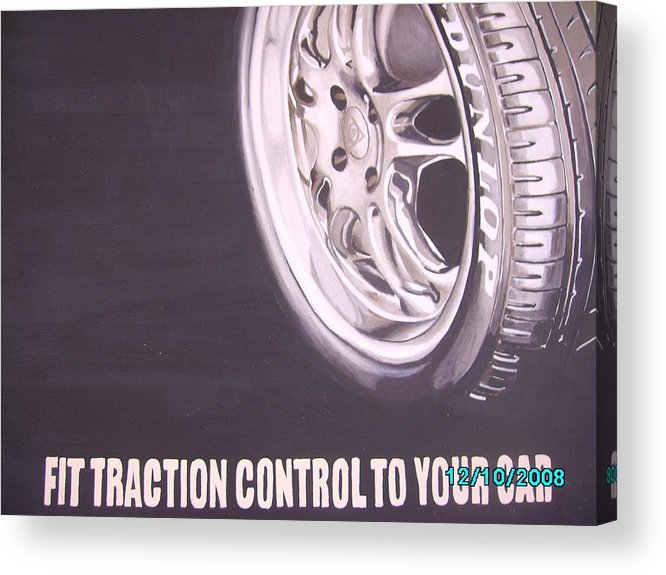 Wheel Acrylic Print featuring the digital art Adverts On Tyres by Olaoluwa Smith