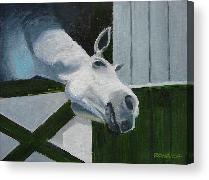 Horse Acrylic Print featuring the painting Ah Common A Little More by Robert Rohrich