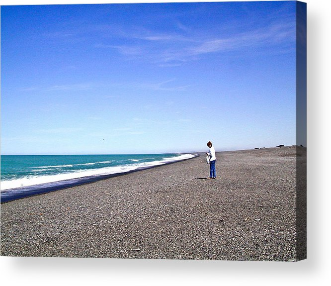 Alone Acrylic Print featuring the photograph Alone And At Peace by Douglas Barnett