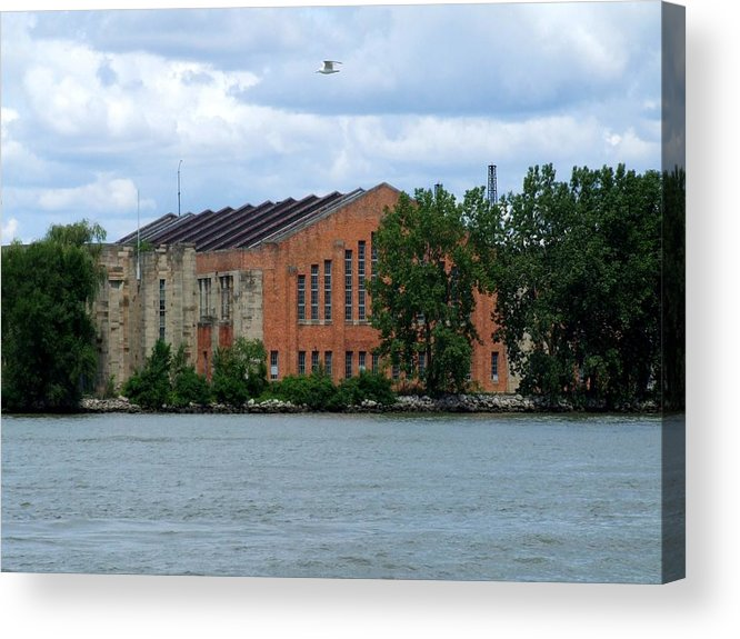 Building Acrylic Print featuring the photograph Along The Maumee by Michiale Schneider