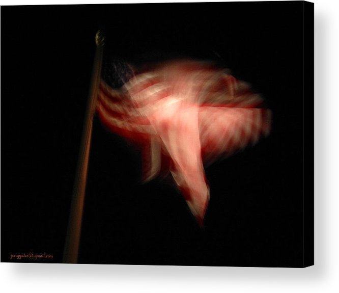Flag Acrylic Print featuring the photograph American Flag by Gerard Yates