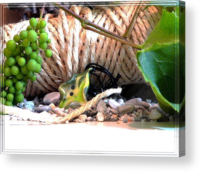 Jewel Acrylic Print featuring the photograph Among Ropes And Grapes by Chara Giakoumaki