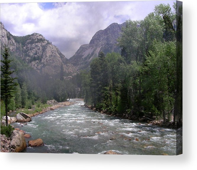 Landscape Acrylic Print featuring the photograph Animas River Morning by Peter McIntosh