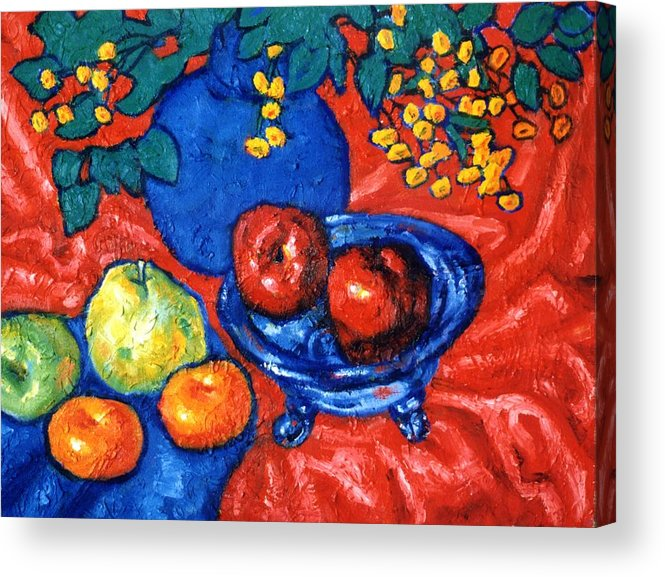 Still Life Acrylic Print featuring the painting Apples And Pears by Paul Herman